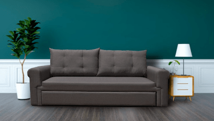 Alexia 3 Seaters Sofa With Roller and Memory Foam + Single Size Pull Out Bed