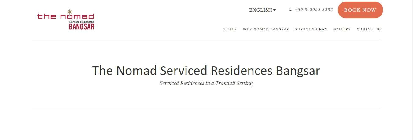 The Nomad Serviced Residences' Homepage