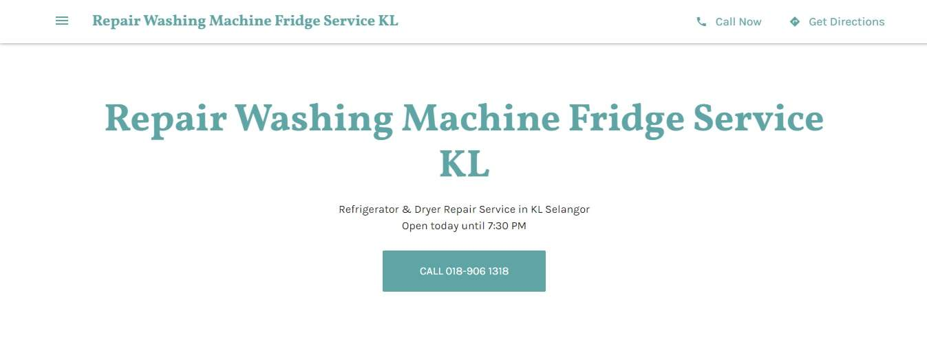 Repair Washing Machine Fridge Service KL's Homepage
