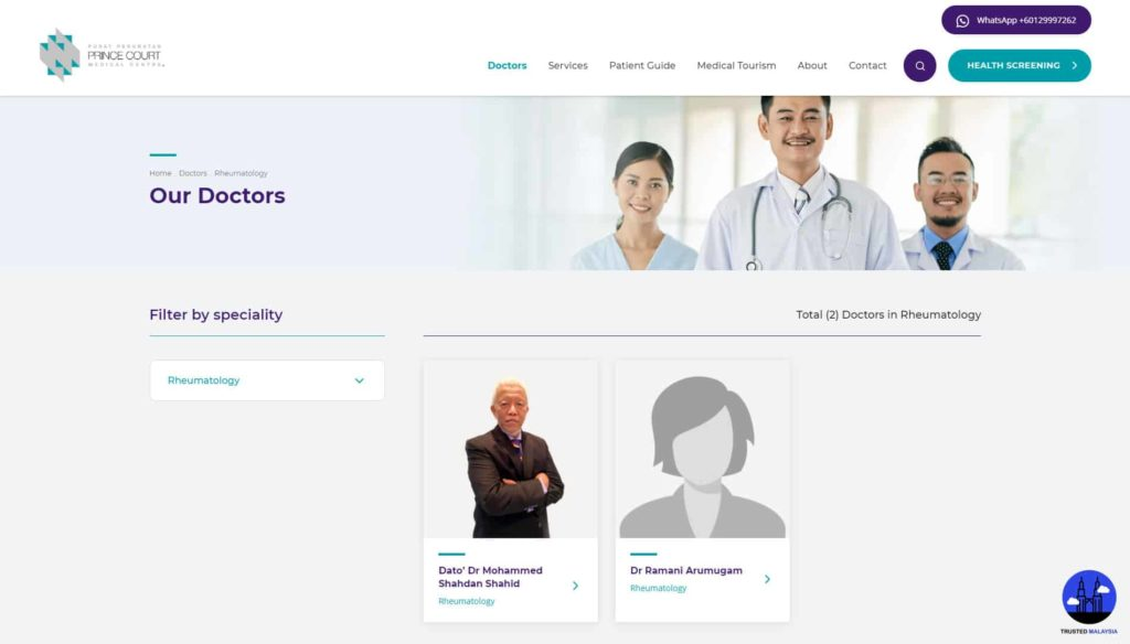 Prince Court Medical Centre's Homepage