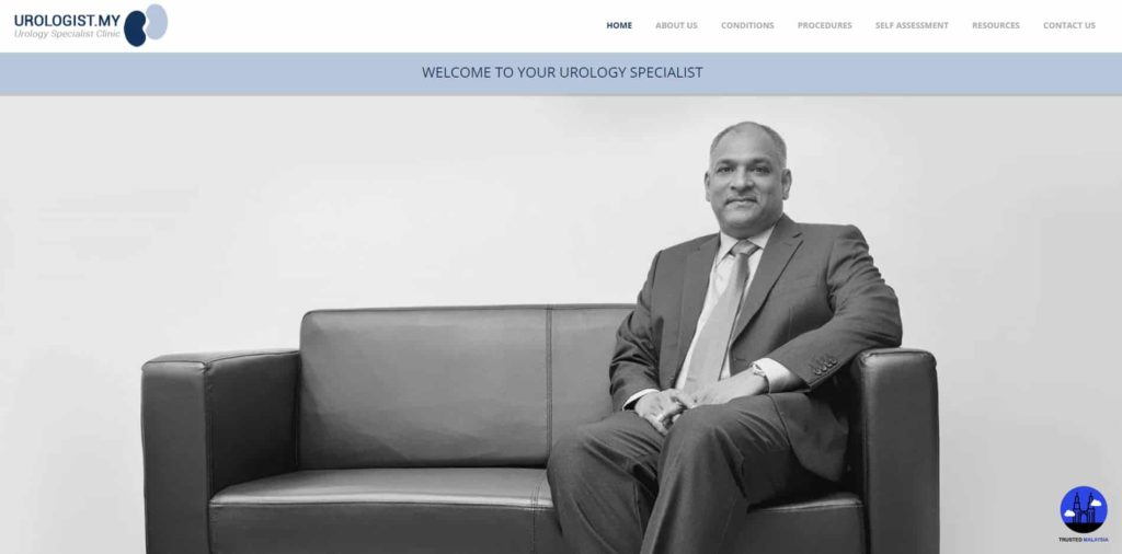 Dr Ambikai Balan Sothinathan, Urology Specialist Clinic's Homepage