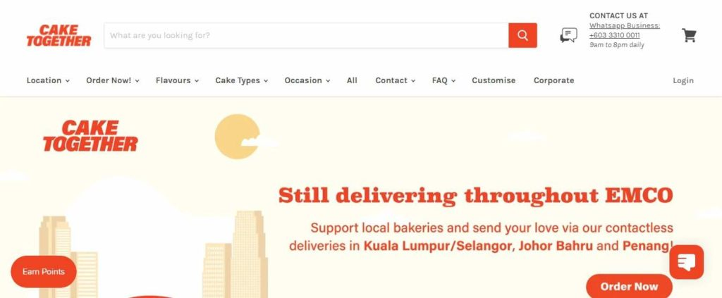 Cake Together's Homepage